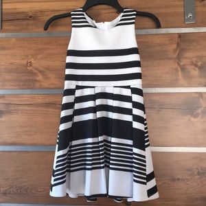 Amy Byer Dresses - Black and White striped girls dress